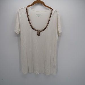 Soft Surroundings Scoop Short Sleeve T-Shirt Top